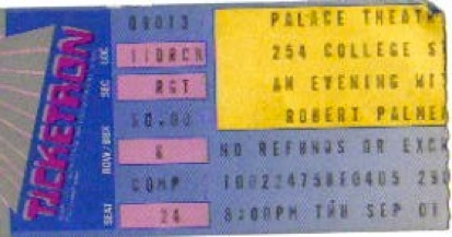 New Haven ticket August 1988