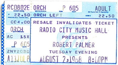 Radio City Ticket